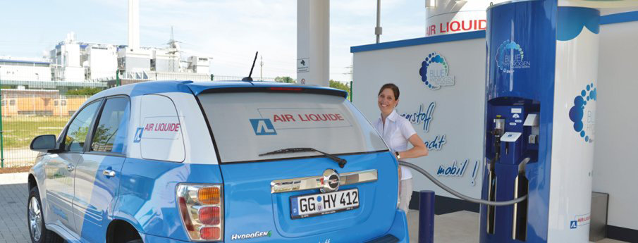 A first Air Liquide hydrogen filling station in the